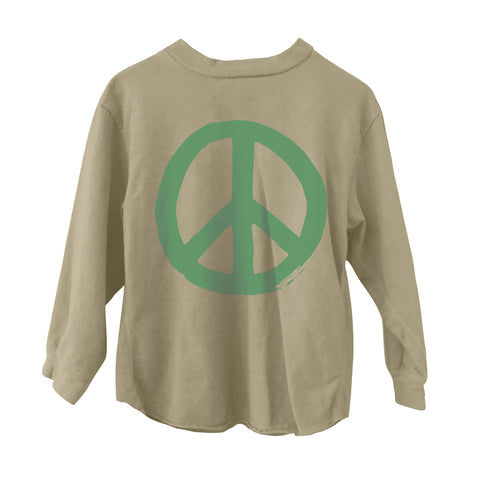 Peace Long Sleeve Tee Flax