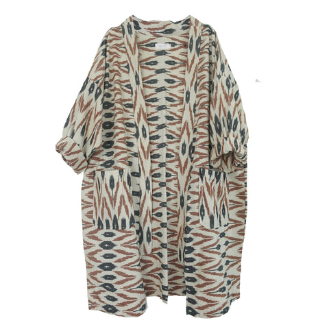 Renzo Robe Brown IKAT