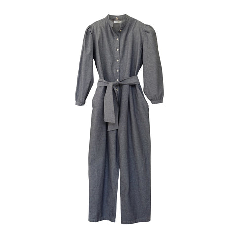 Selma Puff Sleeve Jumpsuit Chambray