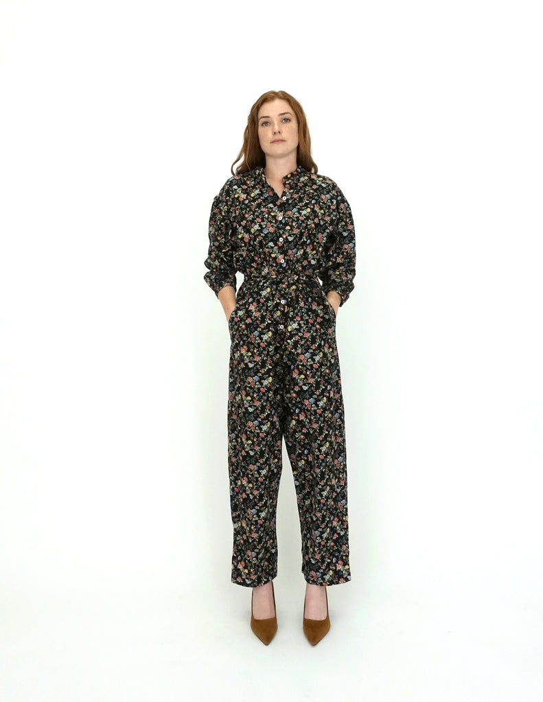 Selma Puff Sleeve Jumpsuit Black