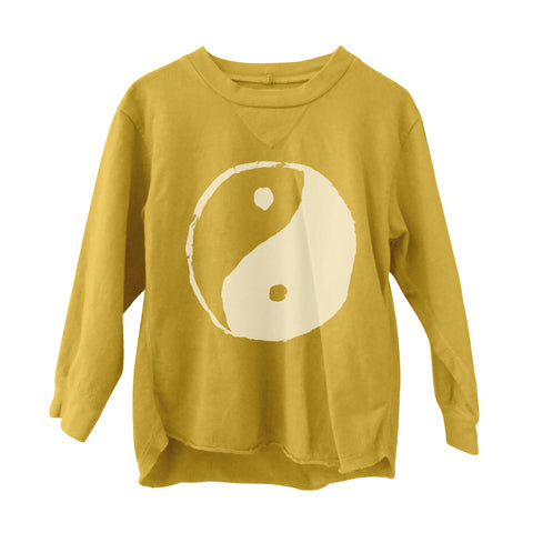 Yin Yang Long Sleeve Tee Gold
