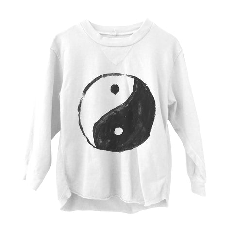 Yin Yang Long Sleeve Tee White