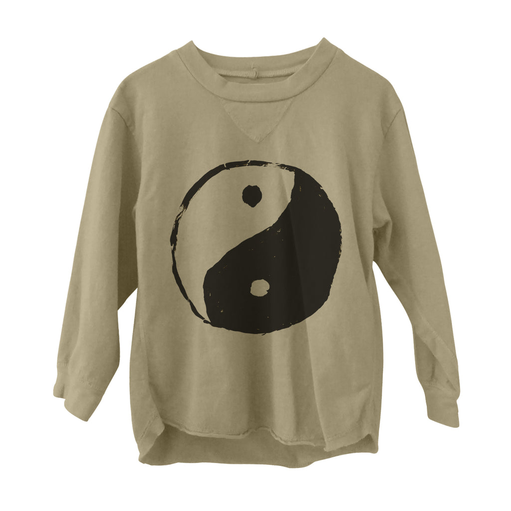 Yin Yang Long Sleeve Tee Flax