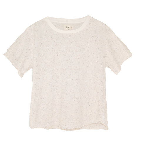 Kenzie Confetti Short Sleeve Tee ~ Natural