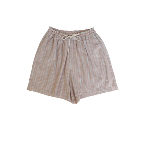 Rae Stripe Drawstring Short Khaki