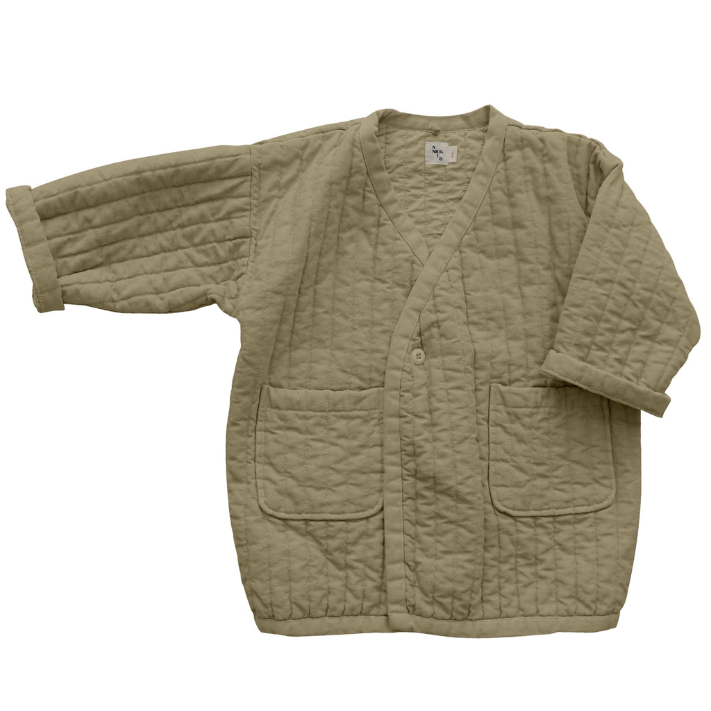 Sterling Quilted Coat Flax