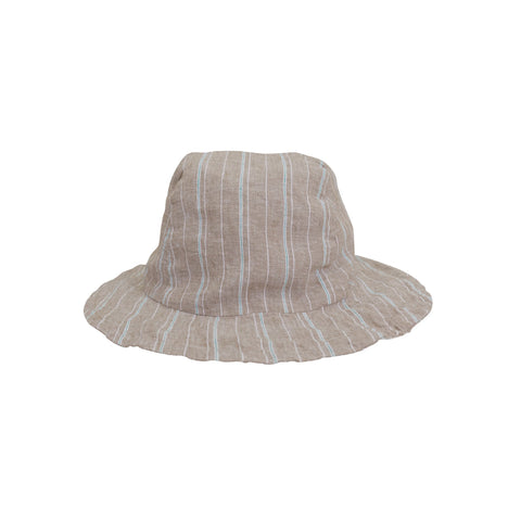 Tate Stripe Bucket Hat ~ Khaki