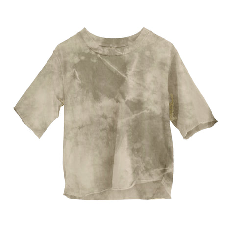 Theo Short Sleeve Cream Tie Dye