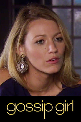 Miguel Ases Prehnite earrings worn by Blake Lively on Gossip Girl