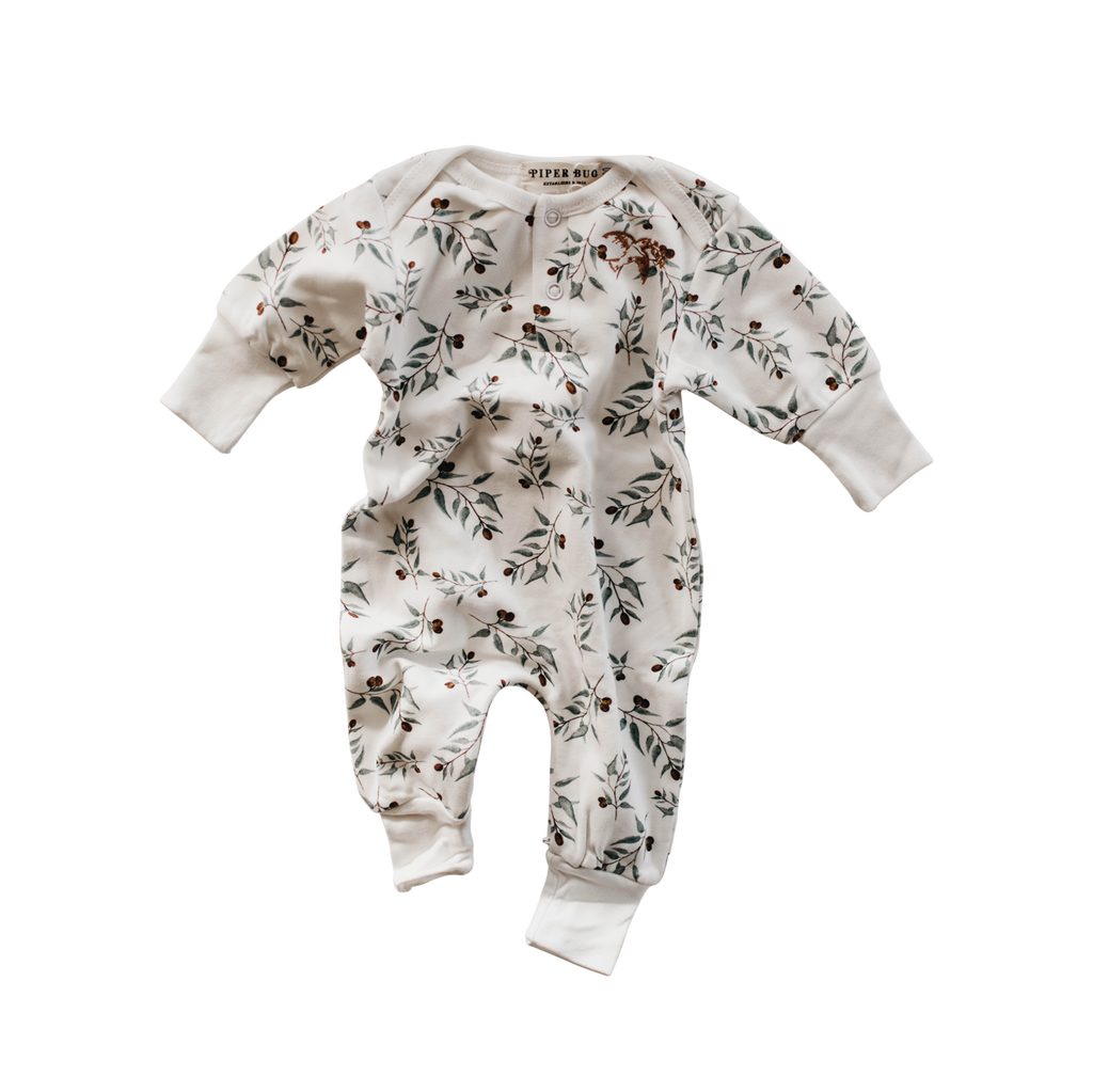 Piper Bug Long Sleeve Romper - Ray