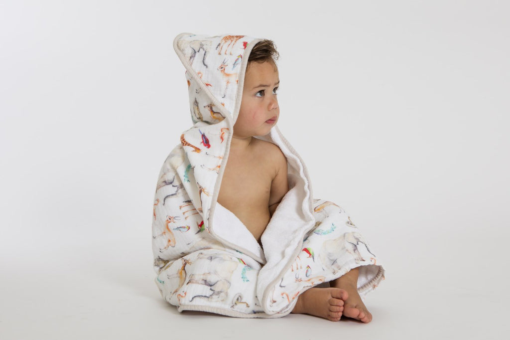 All4Ella Hooded Towel - Animals