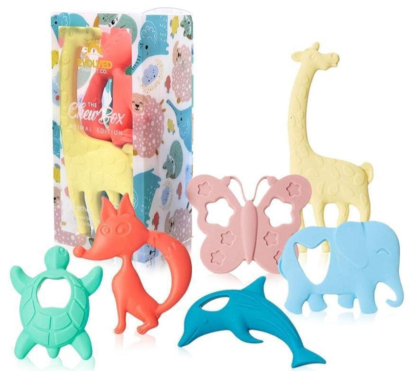 The Evolved Parent Co. The Chew Box Teethers - Animal Edition
