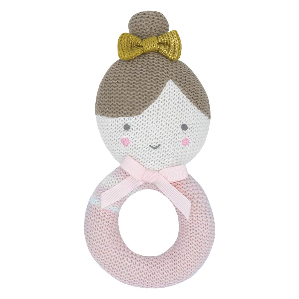 Living Textiles - Sophia The Ballerina Knitted Rattle
