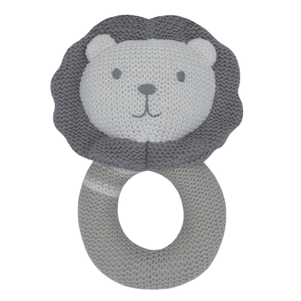Living Textiles - Austin the Lion Knitted Rattle