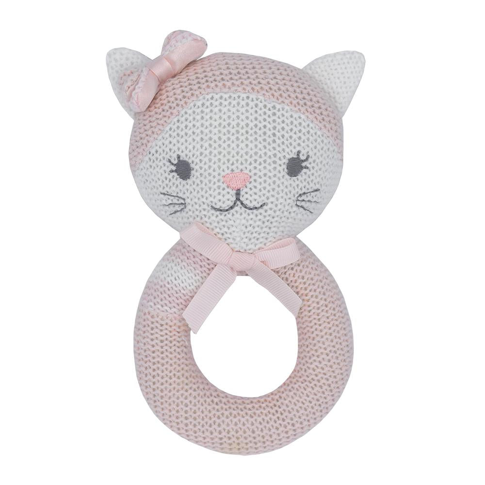 Living Textiles - Daisy the Cat Knitted Rattle
