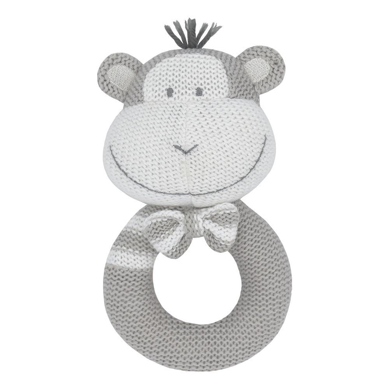 Living Textiles - Max The Monkey Knitted Rattle