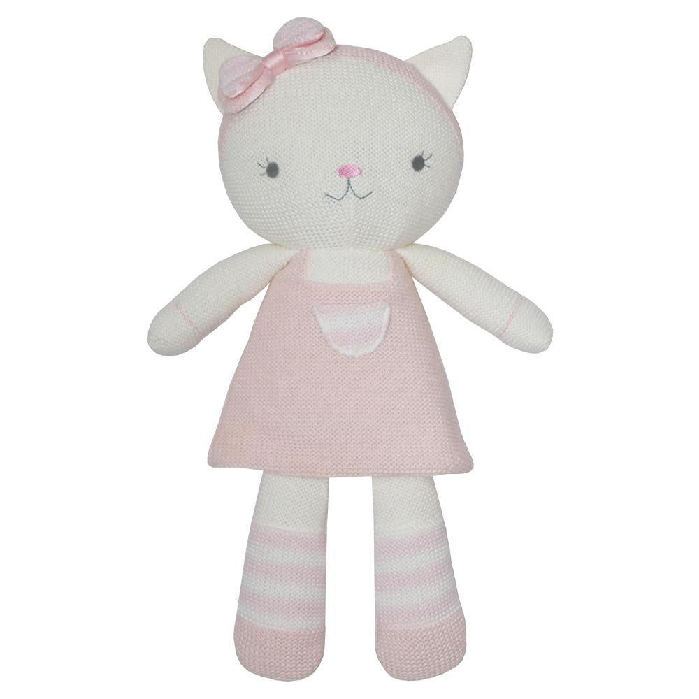 Living Textiles - Daisy The Cat Knitted Toy