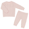 Living Textiles - 2pc Cable Knit Sweater & Pant Set - Blush Pink