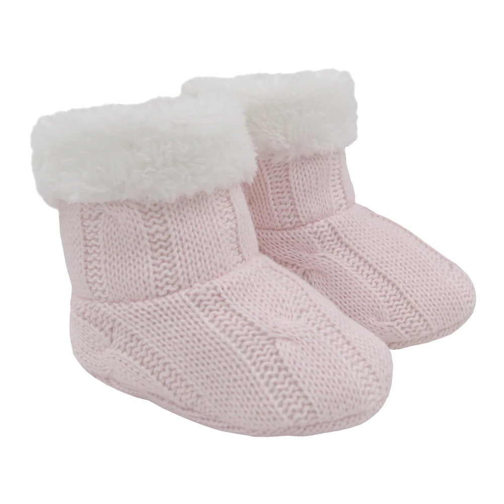 Cable Knit Sherpa Booties