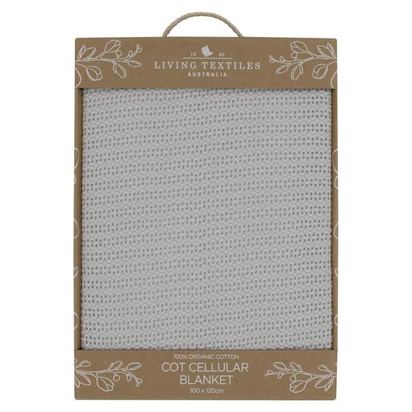 Living Textiles - ORGANIC COT CELLULAR BLANKET - Grey