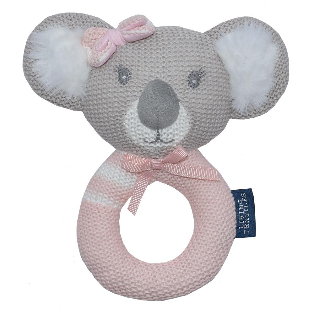 Living Textiles - Chloe The Koala Knitted Rattle
