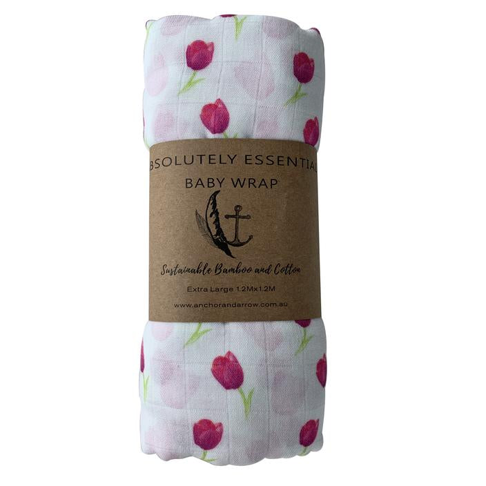 Anchor & Arrow Swaddle - Little Tulips