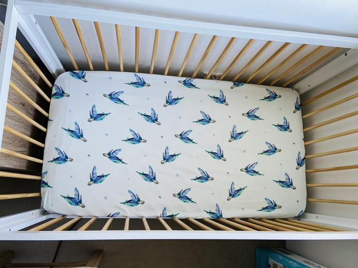 Anchor & Arrow Fitted Cot Sheet - Sea Turtles