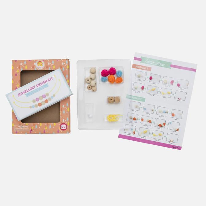 Jewellery Design Kit - Pom Poms & Beads - Tiger Tribe