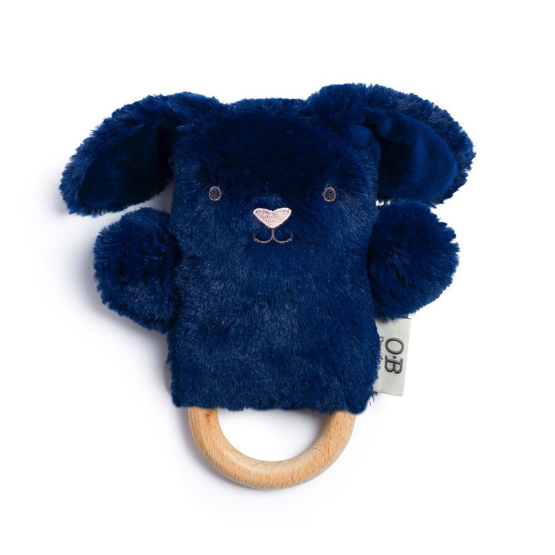 O.B Designs -Wooden Teether | Baby Rattle & Teething Ring | Bobby Bunny