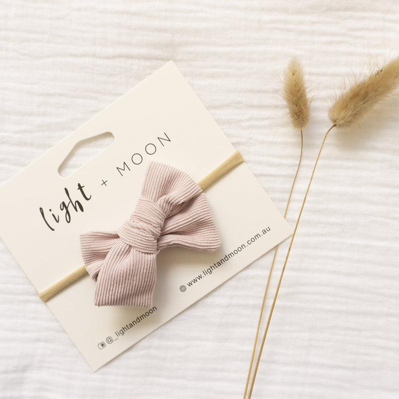 Light + Moon Luxe Corduroy Bow Headband - Lilac