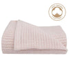 Living Textiles - ORGANIC COT CELLULAR BLANKET - ROSE QUARTZ