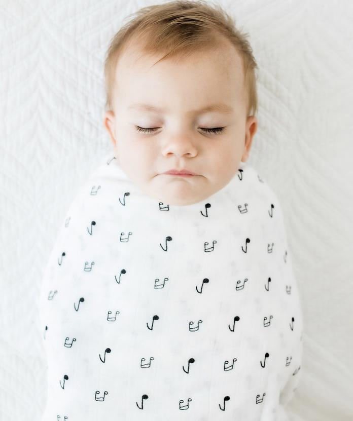 Anchor & Arrow Swaddle - Music Notes