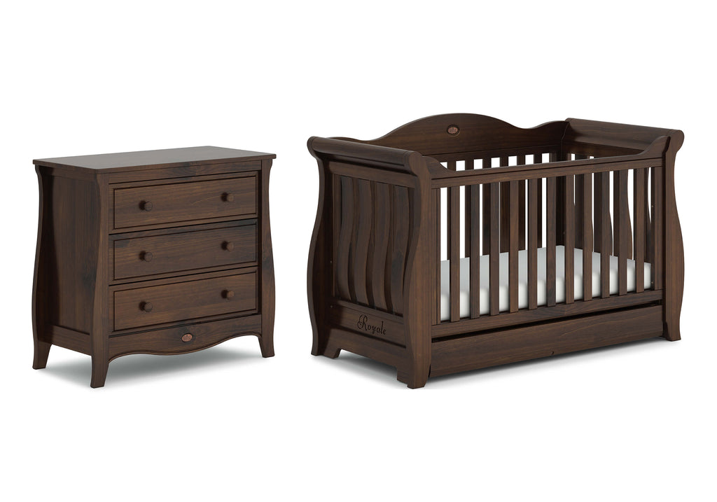 Boori - Sleigh Royale Cot and Sleigh Smart Assembly Drawer (mattress included)