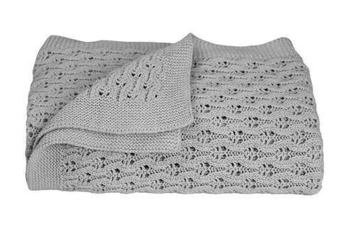 Living Textiles - Lattice Knit Baby Blanket (3 colours)