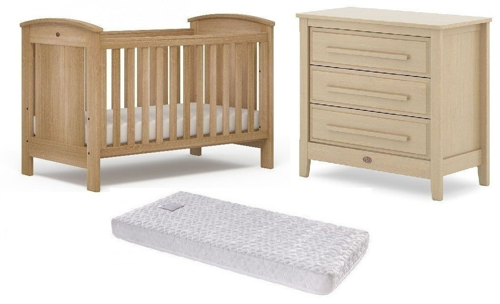 Boori Casa Cot Package - cot, drawers, mattress and toddler guard panel