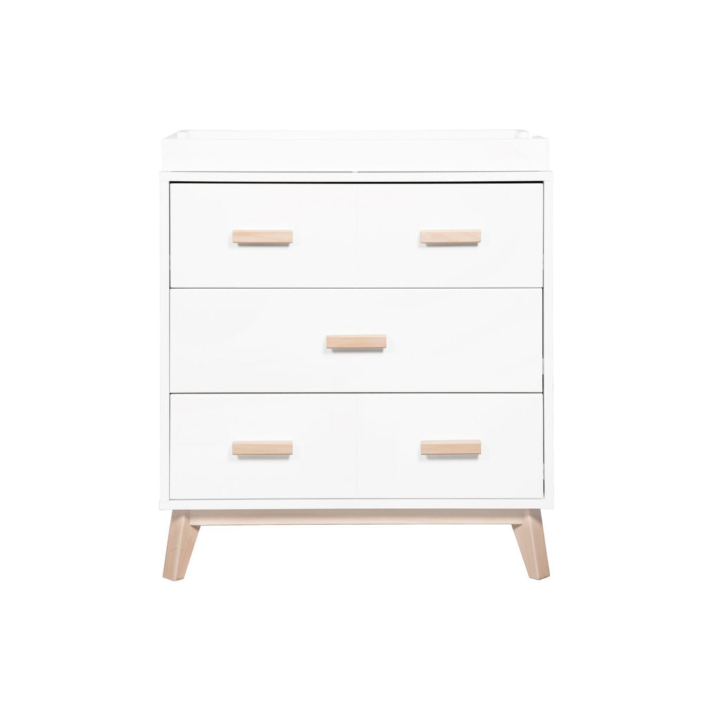Babyletto Scoot Changer / Dresser ( 2 colours ) WHITE/WASHED NATURAL PRE-ORDER MID MAY 2020