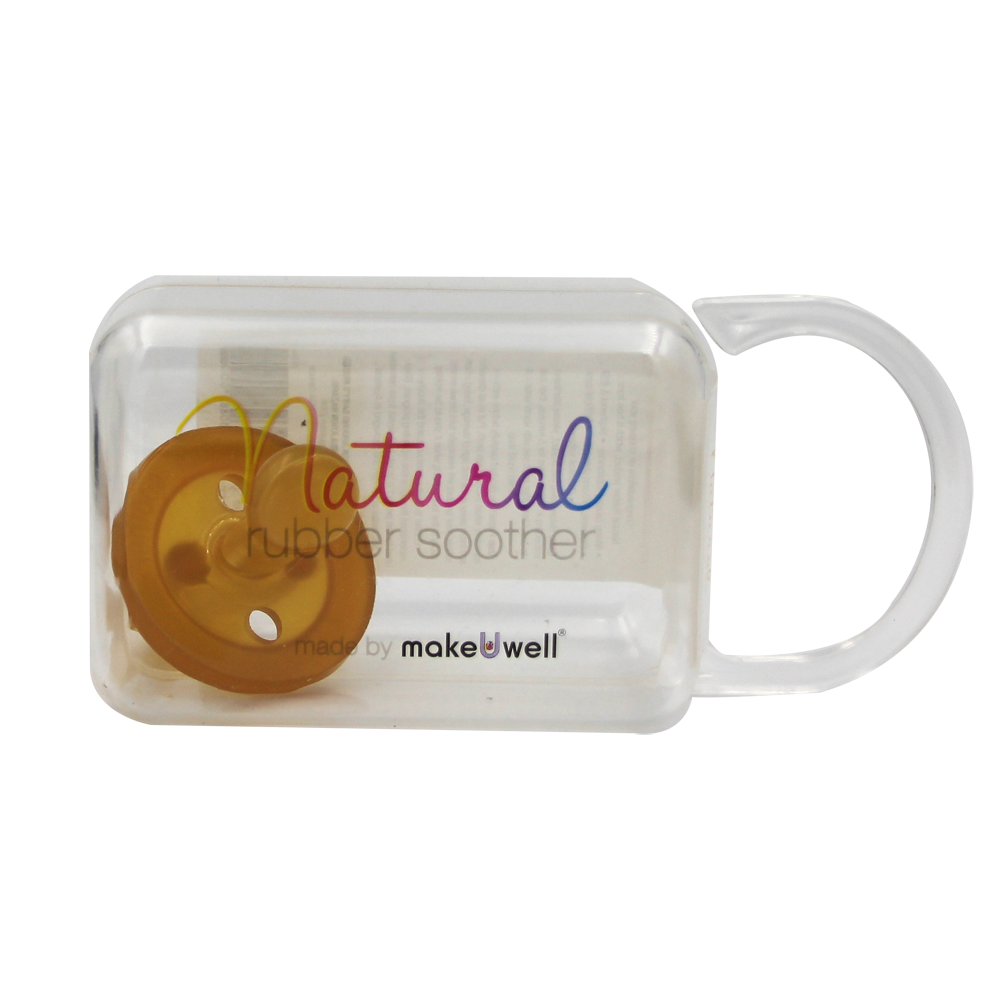 Natural Rubber Soother Orthodontic Dummy - Single