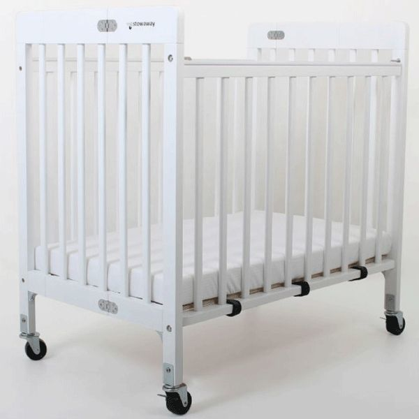 Stowaway - Foldable Wooden Cot - White