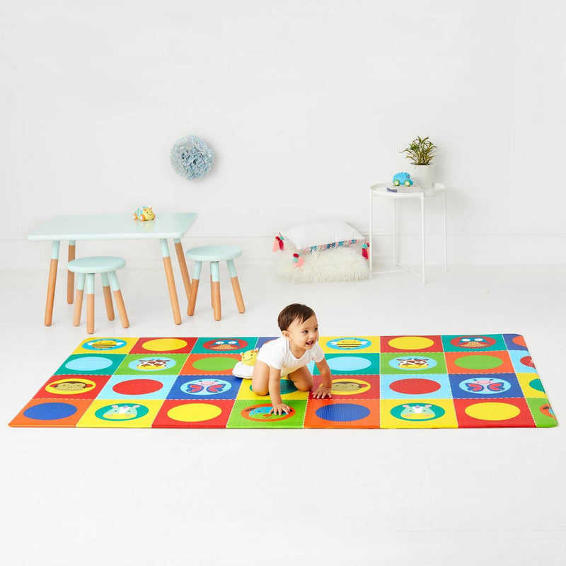 Skip Hop Doubleplay Reversible Playmat - Zoo/Multi Dots