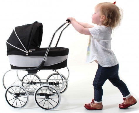 Valco Baby Just Like Mum - Princess Dolls Pram - Raven Black