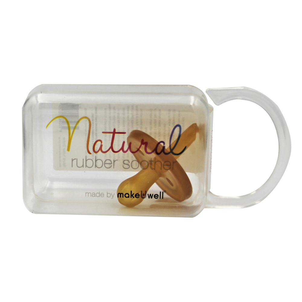 Natural Rubber Soother Round Dummy - Single