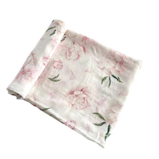 Anchor & Arrow Swaddle - Pretty Peony