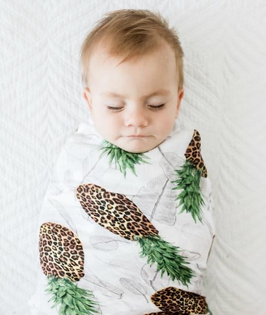 Anchor & Arrow Swaddle - Leopard Pineapples