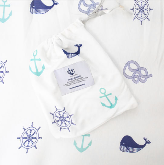 Anchor & Arrow Bassinet Sheet - Nautical Days