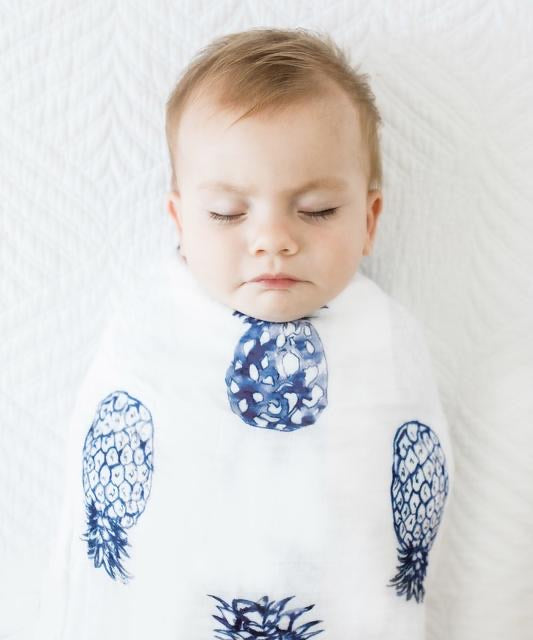 Anchor & Arrow Swaddle - Blue Pineapples