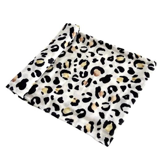 Anchor & Arrow Swaddle - Leopard Print