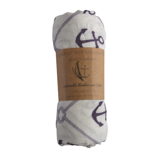 Anchor & Arrow Swaddle - By The Seaside