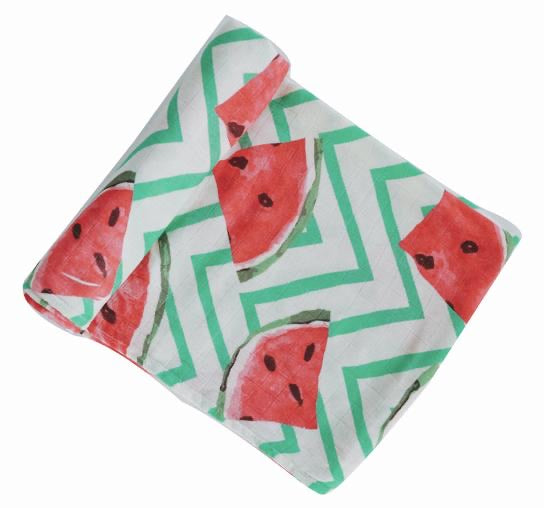 Anchor & Arrow Swaddle - Frolicking Watermelon