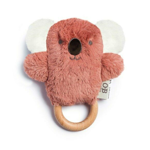 O.B Designs Wooden Teether | Baby Rattle & Teething Ring | Kate Koala