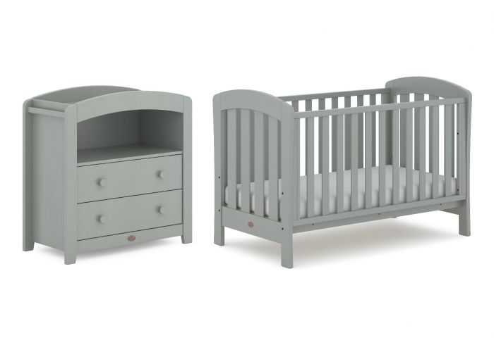 Boori Sunshine Cot Package - Cot, Chest, Mattress, Foldable Change Pad